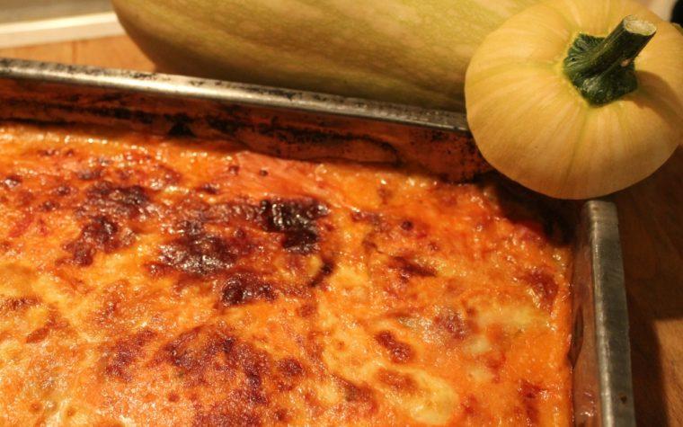 Parmigiana facile di zucca senza frittura