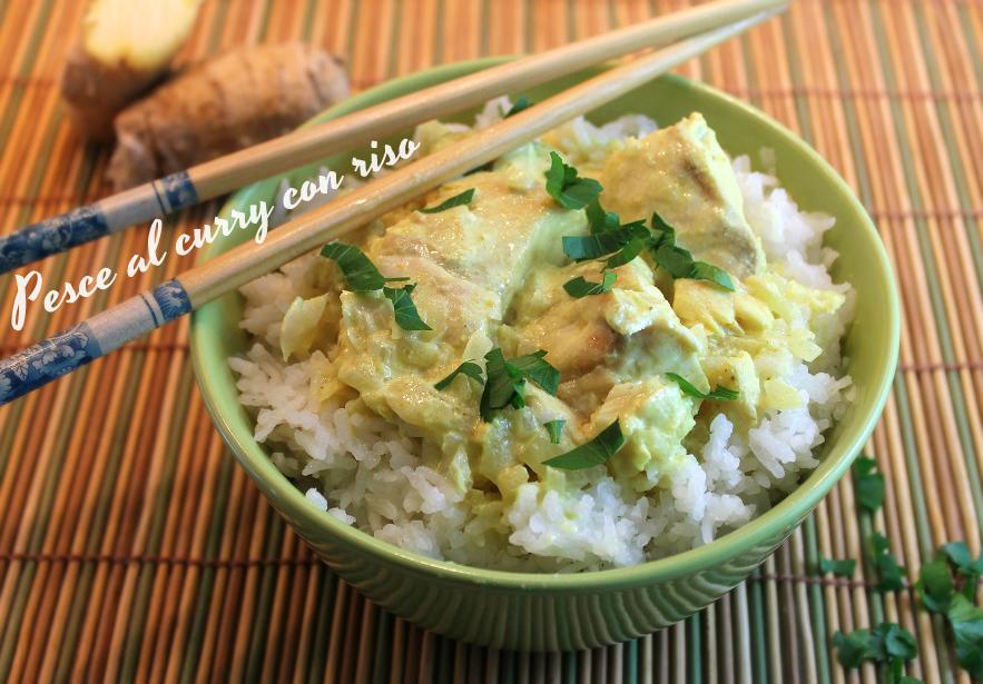 Pesce al curry con riso