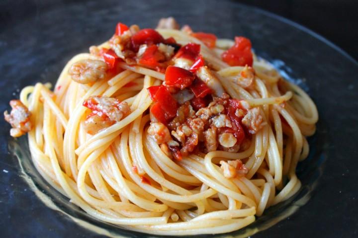 Spaghetti con paranza e peperoni 1