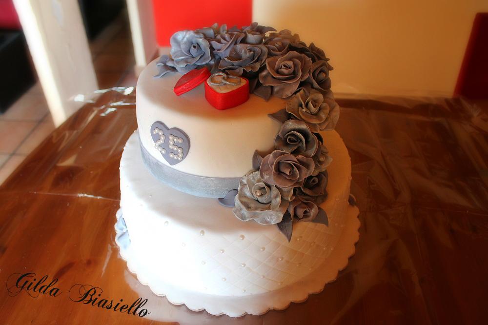 Torta Nozze D Argento In Pdz Donnepasticcione