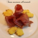 Carpaccio di tonno all'orientale