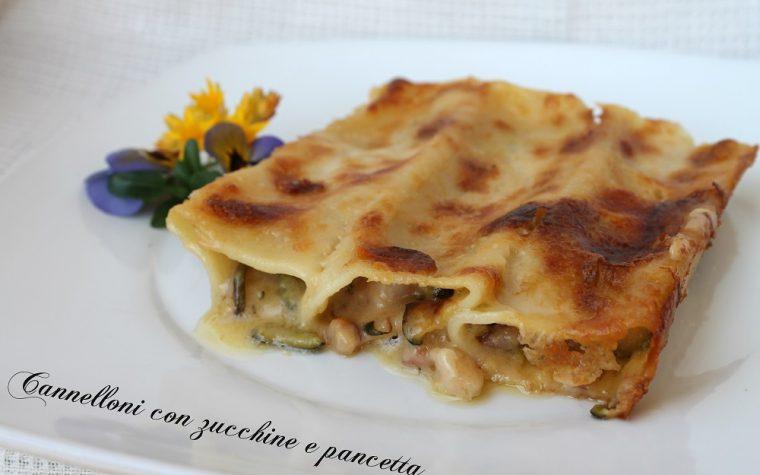 Cannelloni con zucchine e pancetta