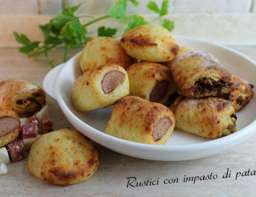 Rustici misti con impasto di patate