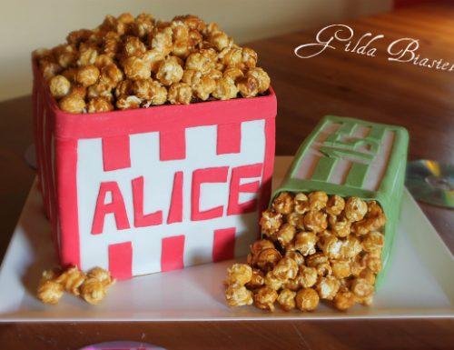 Torta sacchetti di pop corn