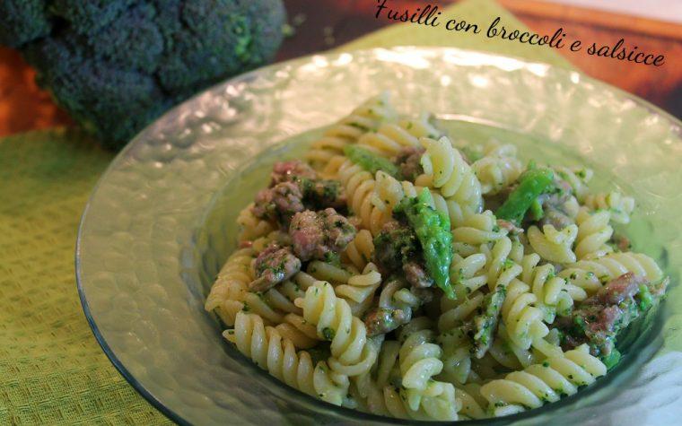 Fusilli con broccoli e salsicce