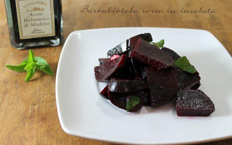 Barbabietole rosse in insalata
