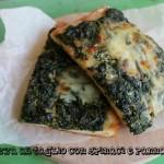 Pizza al taglio con spinaci e panna