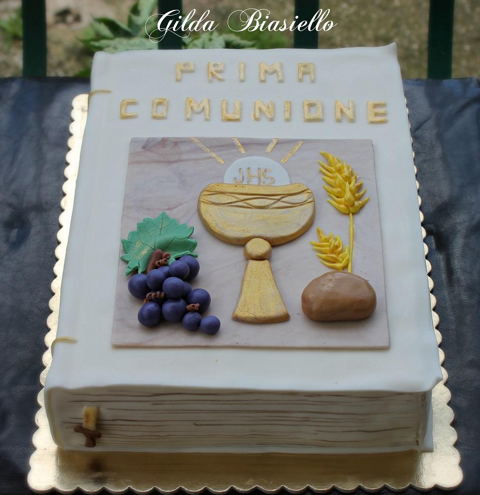 Top Torta libro prima comunione | donnepasticcione DM01