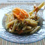 Pasta-con-fiori-di-zucca-tonno-e-acciughe