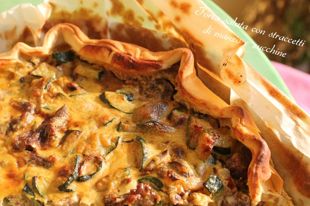 Torta salata con straccetti di manzo e zucchine