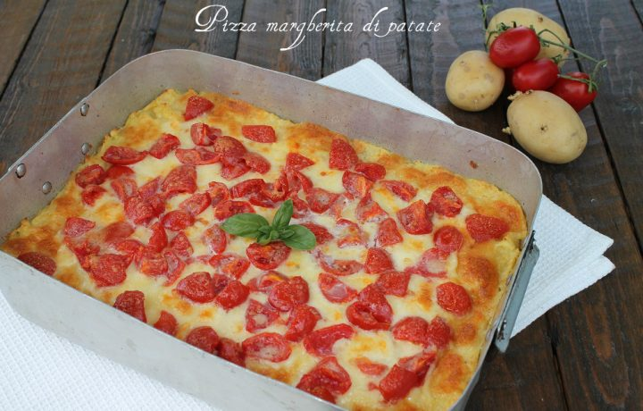 Pizza margherita di patate