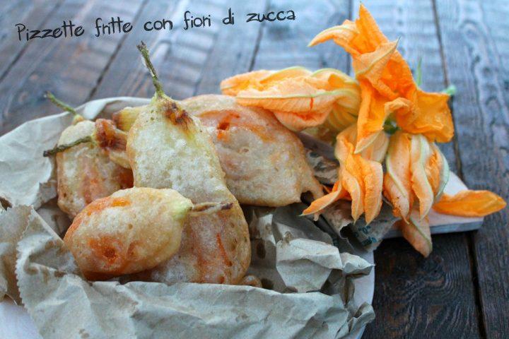 Pizzette fritte con fiori di zucca 1