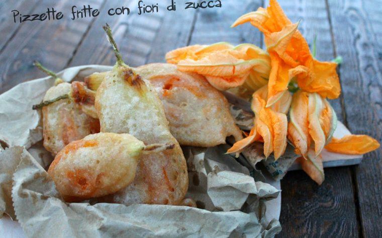 Pizzette fritte con fiori di zucca
