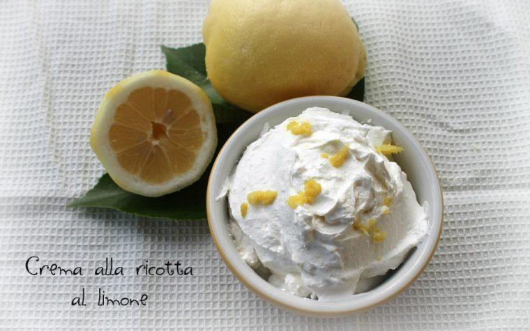 Crema alla ricotta al limone