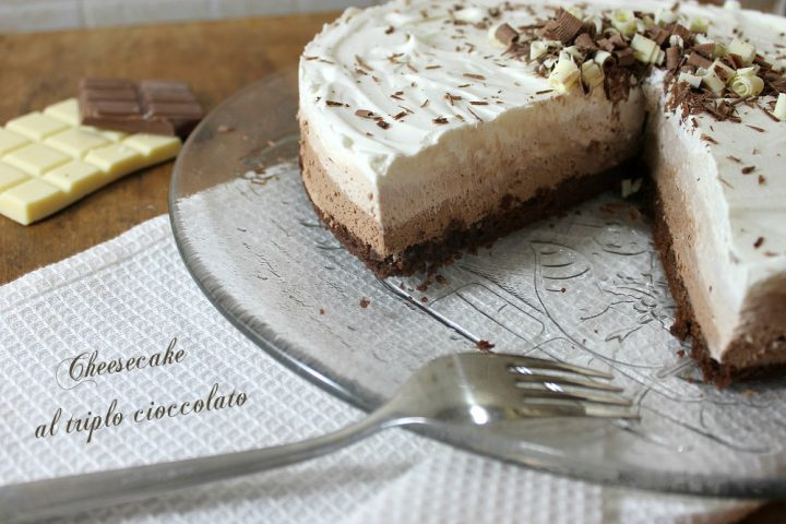 cheesecake ai tre cioccolati