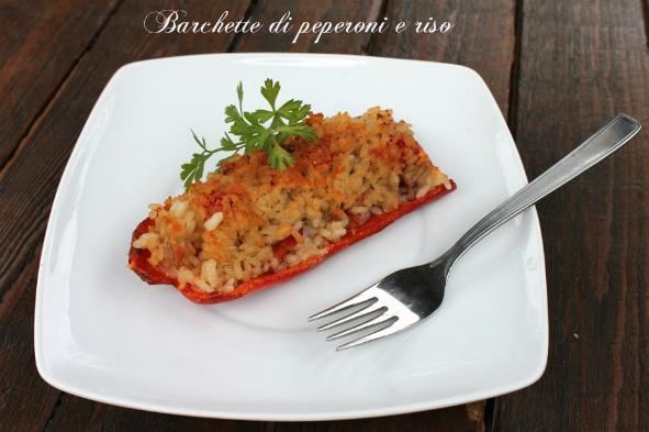 Barchette di peperoni e riso
