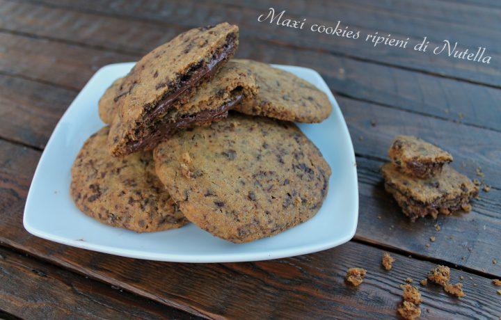 Maxi cookies ripieni di Nutella