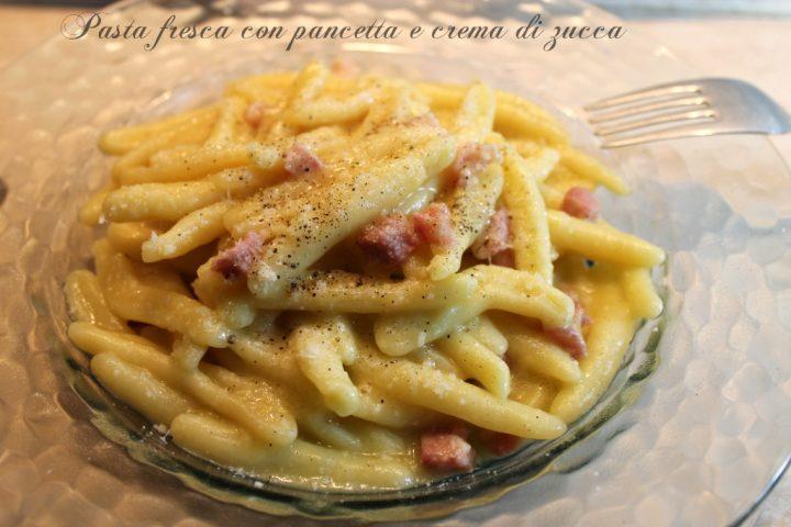 Pasta fresca con pancetta e crema di zucca 1