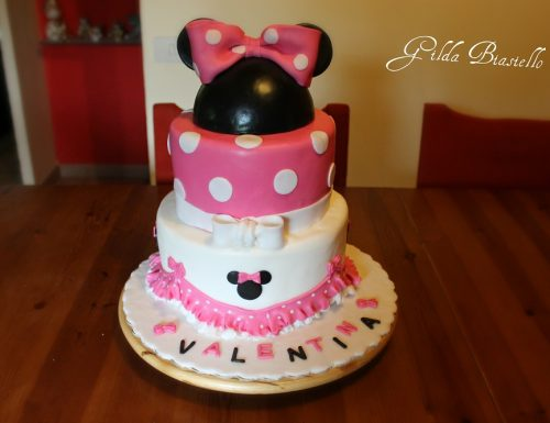 Torta Baby Minnie in pasta di zucchero