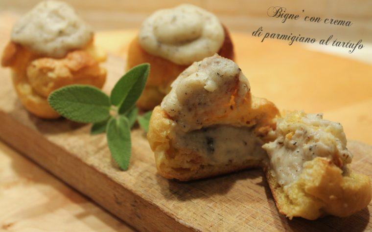 Bignè con crema di parmigiano al tartufo