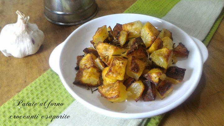 Patate al forno croccanti e saporite