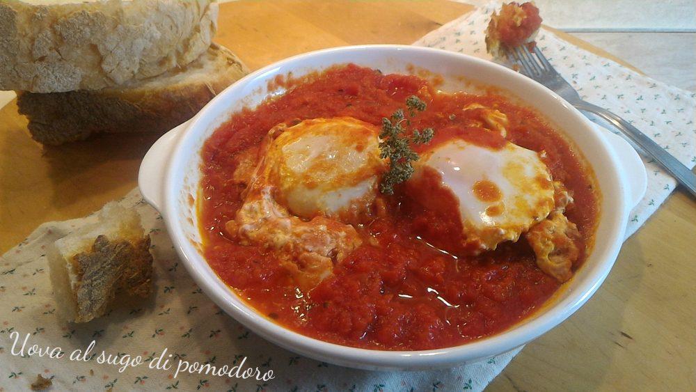 Uova al sugo di pomodoro 1