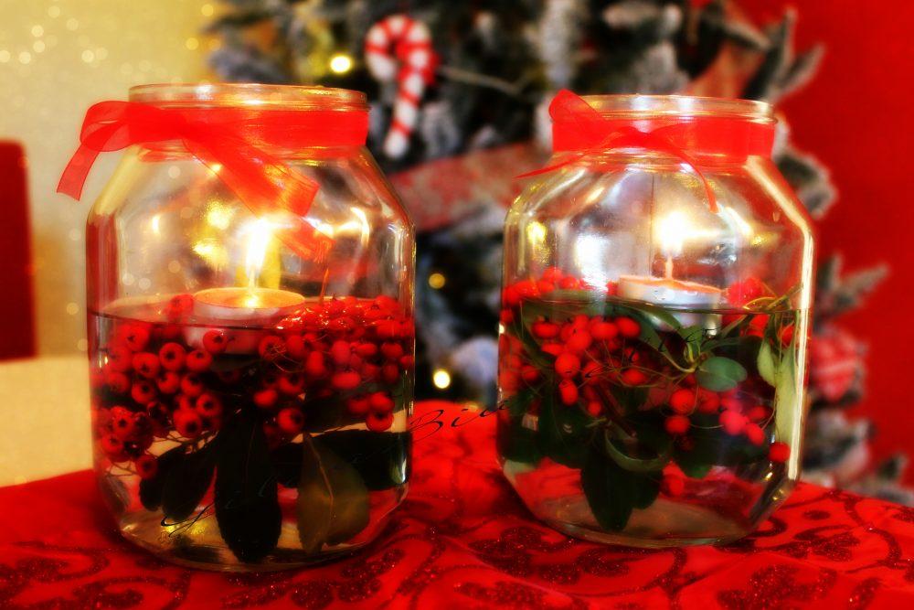 Decorazioni natalizie con i barattoli di vetro - Decorazioni vetro ...