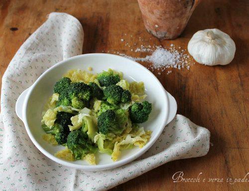 Broccoli e verza in padella