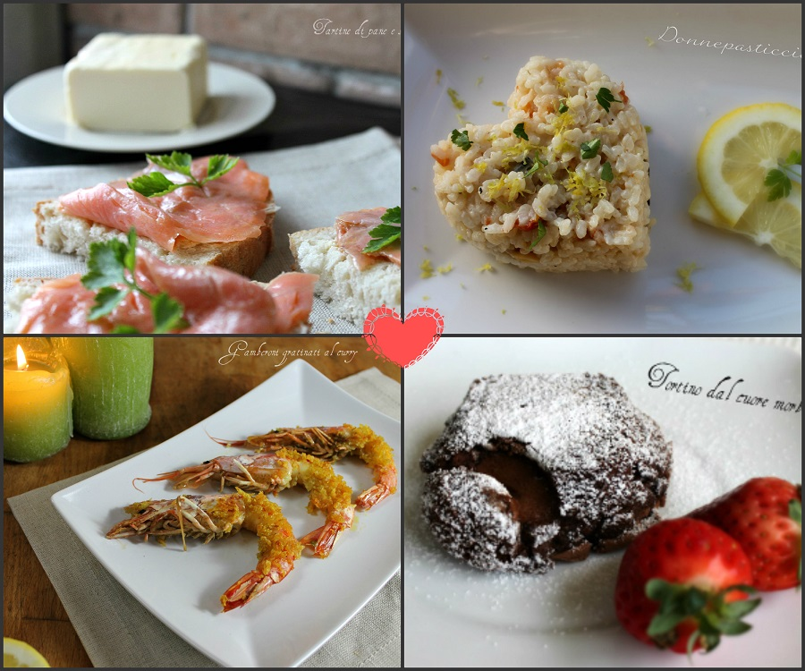 Cena romantica con men di pesce donnepasticcione - Cena romantica in casa ...