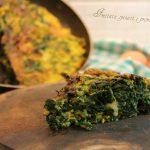 frittata con spinaci e provolone piccante