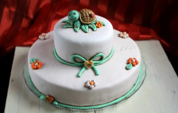 Torta tartaruga stile Thun in pasta di zucchero