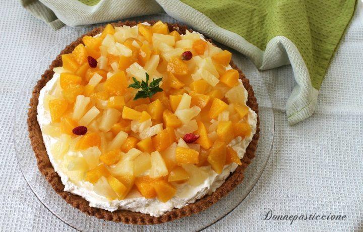 Crostata di frutta con crema al mascarpone e limone