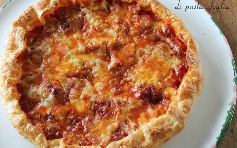 Pizza margherita di pasta sfoglia
