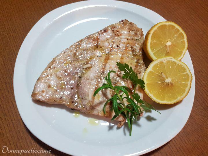 pesce spada marinato griglia