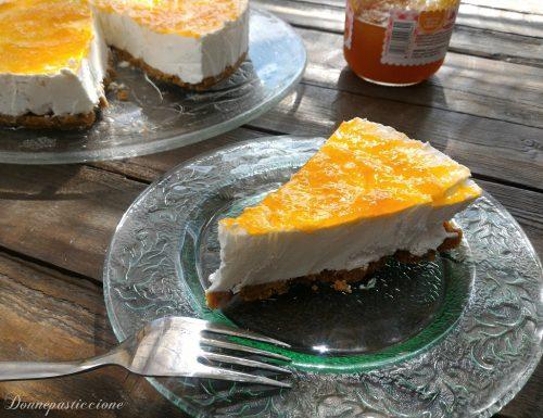 Cheesecake allo yogurt all'albicocca