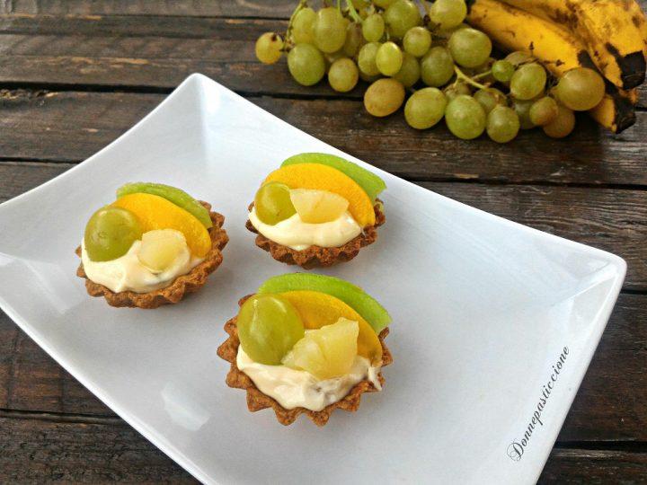 crostatine con crema al mascarpone e frutta