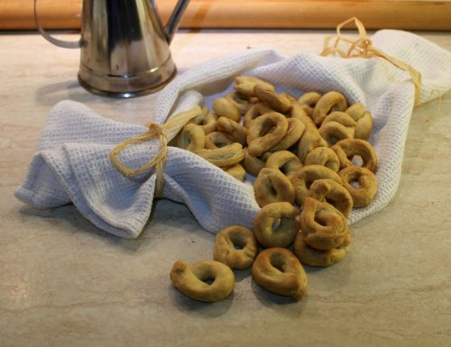 Tarallini croccanti all'olio di oliva