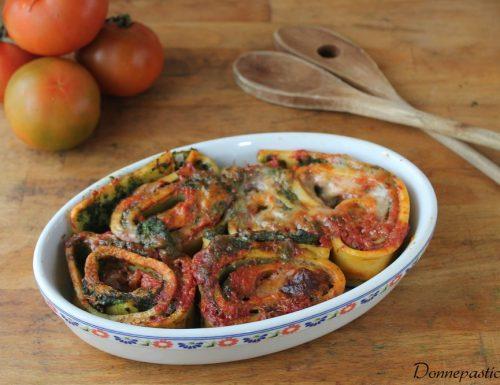 Girelle di pasta fresca con ricotta e spinaci