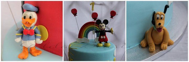 torta personaggi Disney in pasta di zucchero