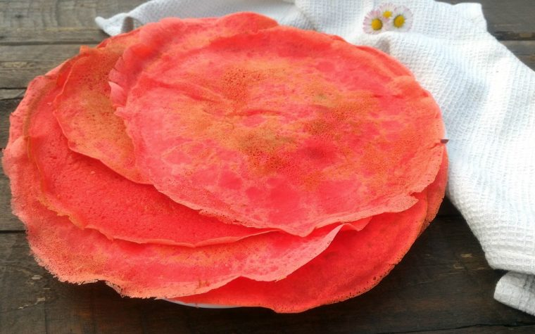 Crepes dolci colorate – ricetta base