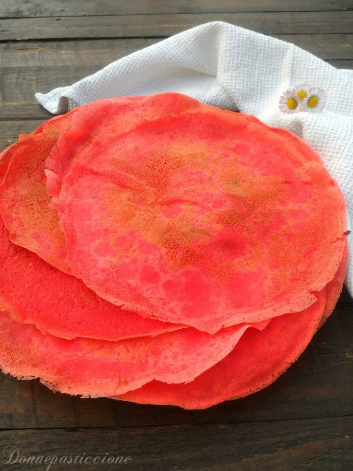 crepes dolci colorate- ricetta base