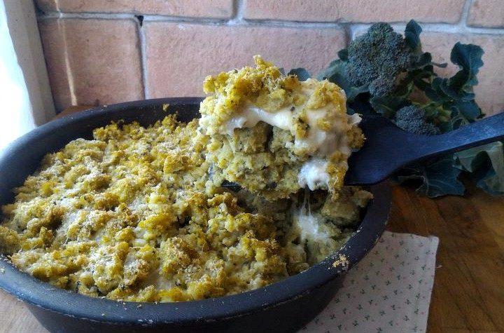 Sbriciolata di polenta verde ai formaggi