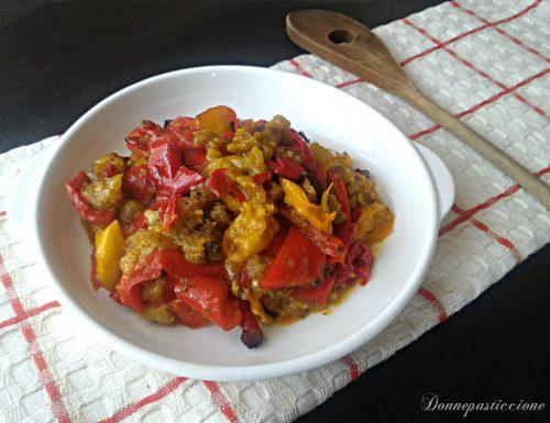Peperoni ammollicati al pesto cotti al forno