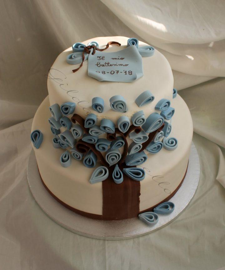 torta battesimo bimbo albero della vita