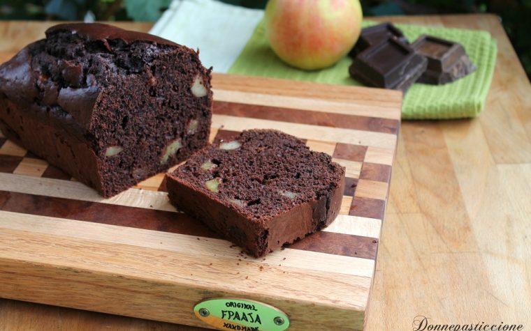 Plumcake soffice di cioccolato alle mele
