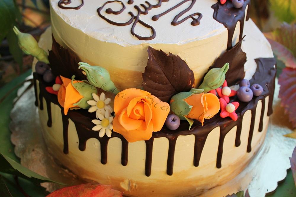 torta autunnale a due piani