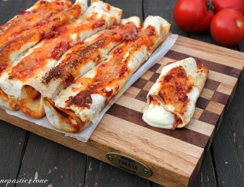 Tortillas ripiene al gusto pizza
