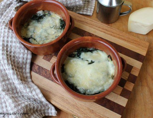 Timballo di cicoria e formaggio al forno