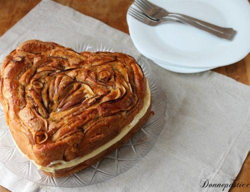 Torta di mele farcita con crema al limone