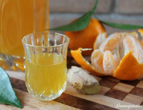 Liquore fatto in casa mandarino e zenzero